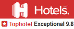 Rated Tophotel at hotels.com in 2019 & 2020